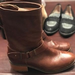 Brown Italy Moro boots size 8
